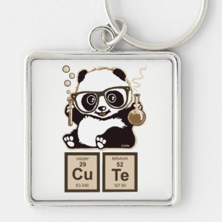 Chemistry panda discovered cute keychain