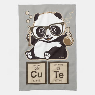 Chemistry panda discovered cute kitchen towel