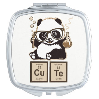 Chemistry panda discovered cute mirror for makeup