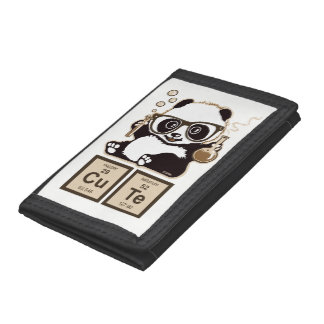 Chemistry panda discovered cute tri-fold wallet