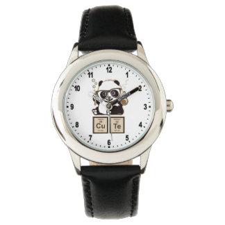 Chemistry panda discovered cute wristwatch