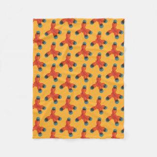 Chemistry Pattern Geek Orange Methane Molecule Fleece Blanket