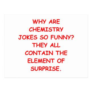 CHEMISTRY POSTCARD