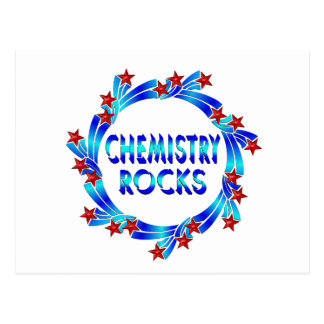 Chemistry Rocks Fun Postcard