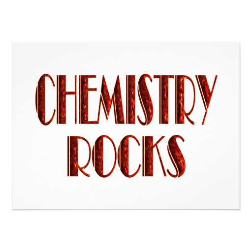Chemistry Rocks Personalized Announcement