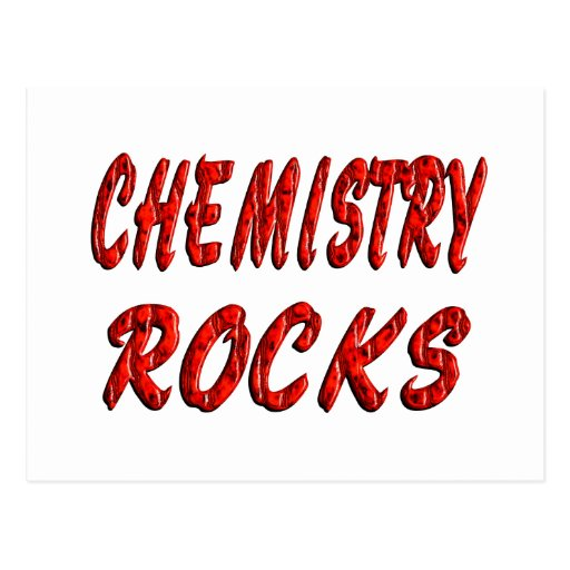 Chemistry ROCKS Postcard