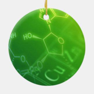 Chemistry Round Ceramic Ornament