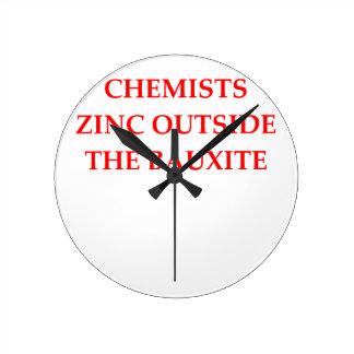 chemistry round clock