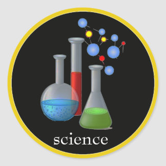 Chemistry Science Classic Round Stickers