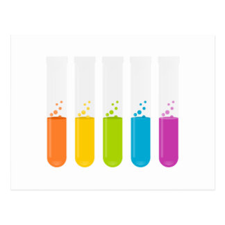 Chemistry Science Test Tubes Postcard