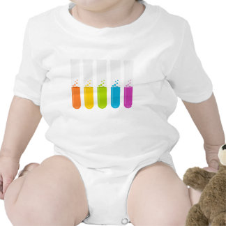 Chemistry Science Test Tubes Baby Bodysuit
