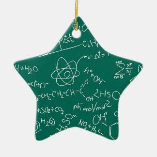 Chemistry scribbles ceramic star ornament
