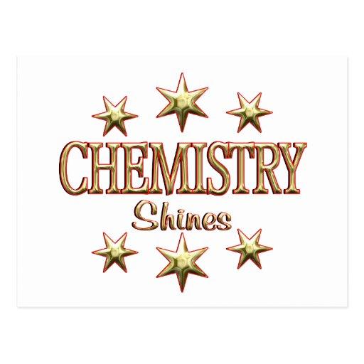 Chemistry Shines Postcard