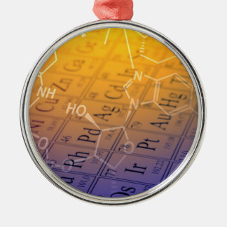 Chemistry Silver-Colored Round Ornament
