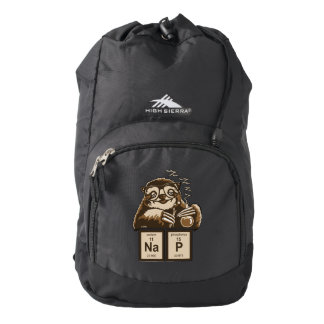 Chemistry sloth discovered nap backpack