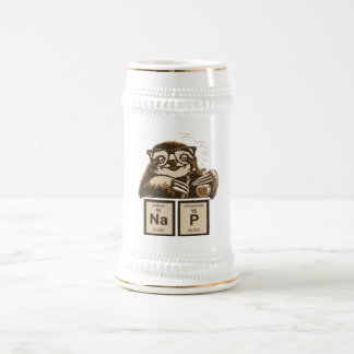 Chemistry sloth discovered nap beer stein