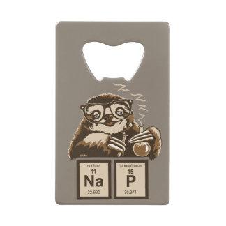 Chemistry sloth discovered nap credit card bottle opener