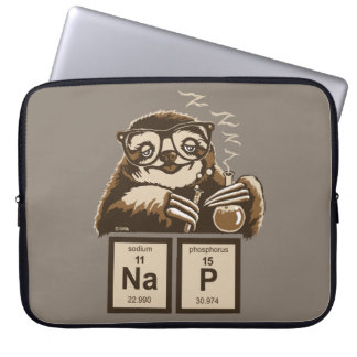 Chemistry sloth discovered nap laptop sleeve