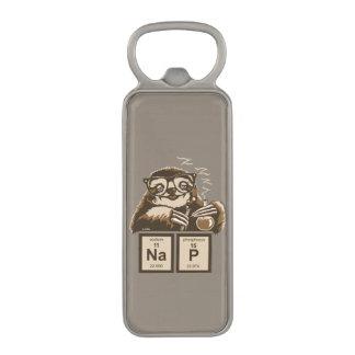 Chemistry sloth discovered nap magnetic bottle opener
