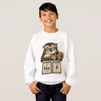 Chemistry sloth discovered nap sweatshirt