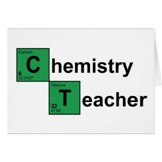 Chemistry Teacher black Greeting Card