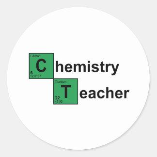 Chemistry Teacher black Round Sticker