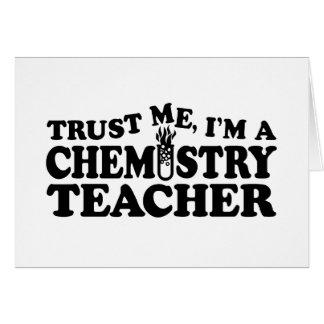 Chemistry Teacher Greeting Card