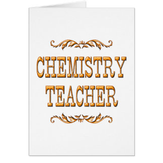Chemistry Teacher Greeting Cards