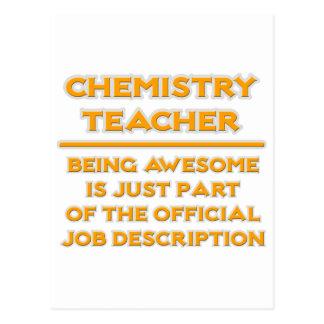 Chemistry Teacher .. Job Description Postcard