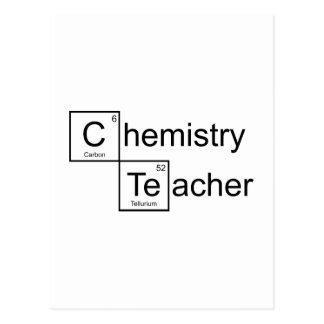 Chemistry Teacher Postcard