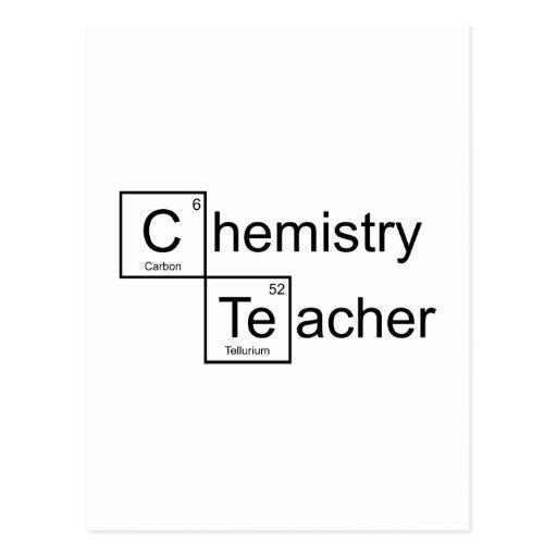 Chemistry Teacher Post Cards