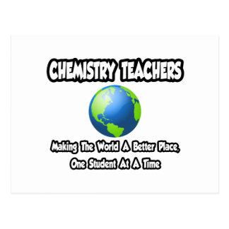 Chemistry Teachers...World a Better Place Postcard