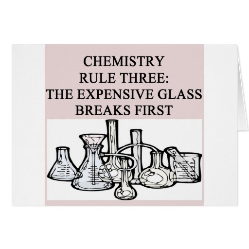 chemistry: the epensive glass breaks first