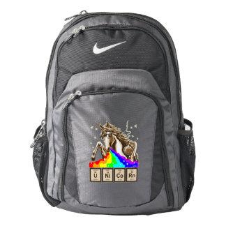 Chemistry unicorn pukes rainbow backpack
