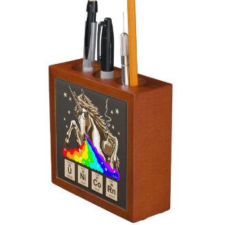 Chemistry unicorn pukes rainbow desk organizer