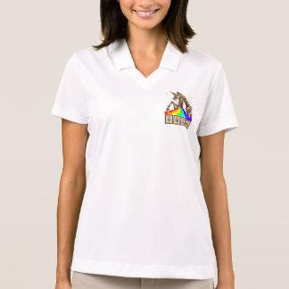 Chemistry unicorn pukes rainbow polo shirt
