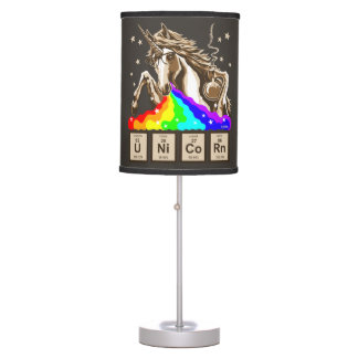 Chemistry unicorn pukes rainbow table lamp