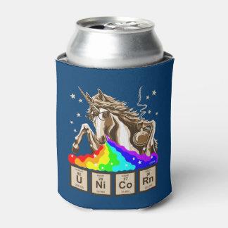 Chemistry unicorn vomits rainbow can cooler