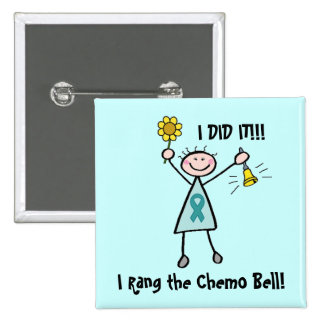 Chemo Bell - Cervical Cancer 2 Inch Square Button