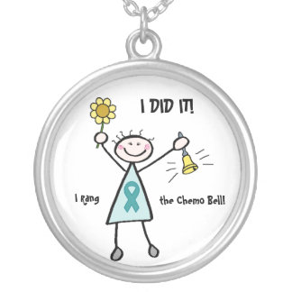 Chemo Bell - Cervical Cancer Round Pendant Necklace