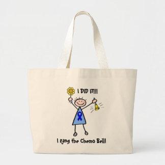 Chemo Bell - Colon Cancer Woman Jumbo Tote Bag
