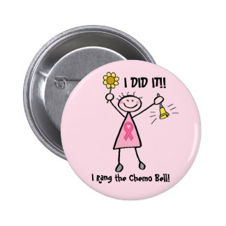 Chemo Bell Pink Ribbon Button