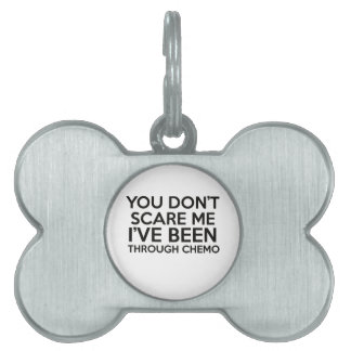 chemo cancer pet name tag