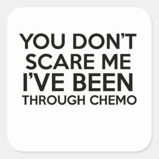 chemo cancer square sticker