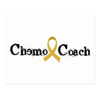 Chemo Coach - Childhood Cancer Gold Ribbon Postcard