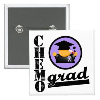 Chemo Grad General Cancer Ribbon Pinback Button