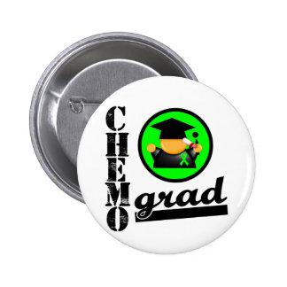 Chemo Grad Lymphoma Ribbon 2 Inch Round Button