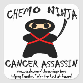 Chemo Ninja Stickers! Square Sticker