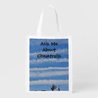 Chemtrail Awareness Shopping Bag Market Totes