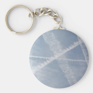 Chemtrails Over Spain Basic Round Button Keychain